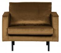 BePureHome Rodeo 1,5 zits fauteuil velvet honing geel