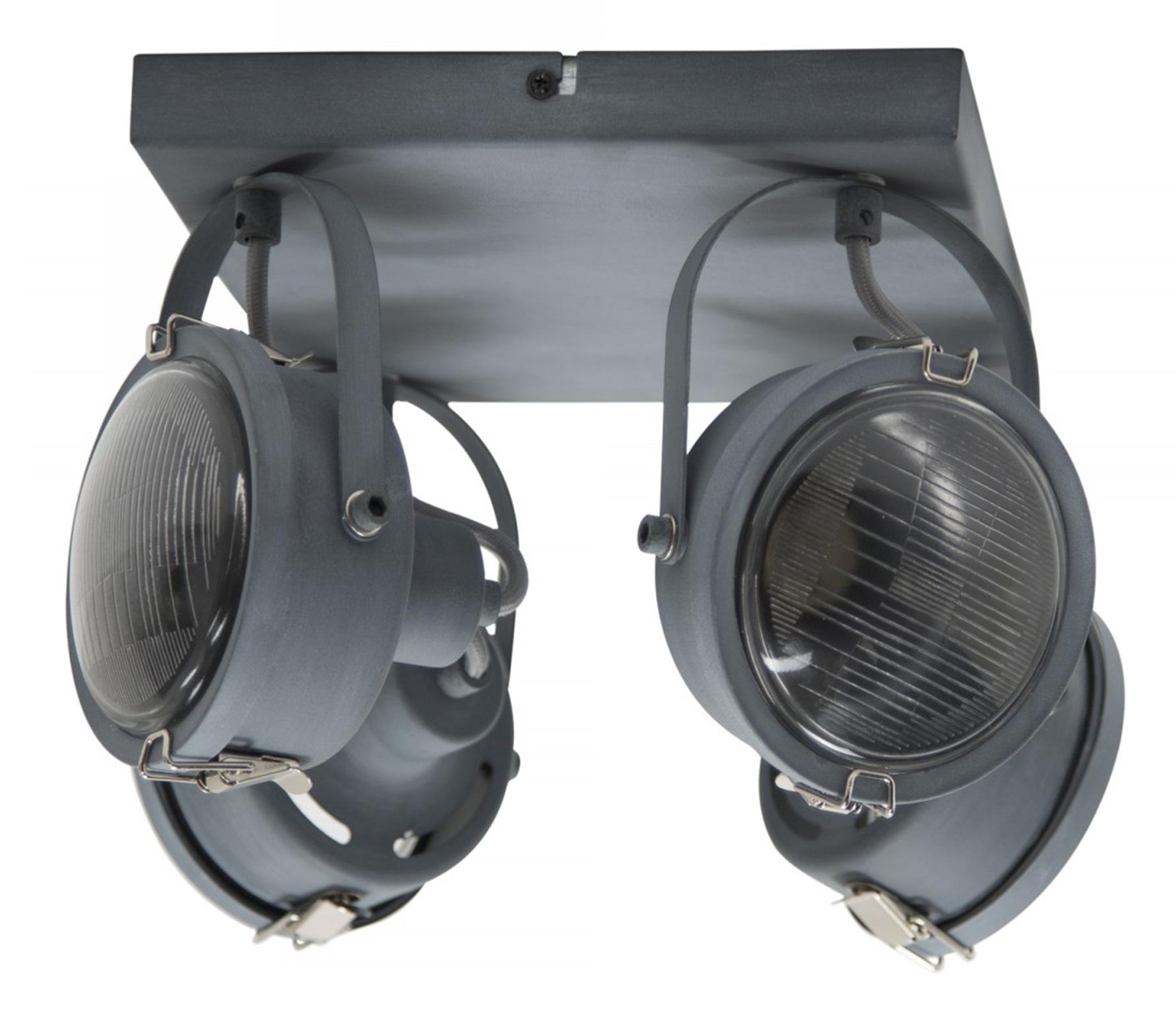 Satellite 4 plafondlamp/wandlamp metaal grijs
