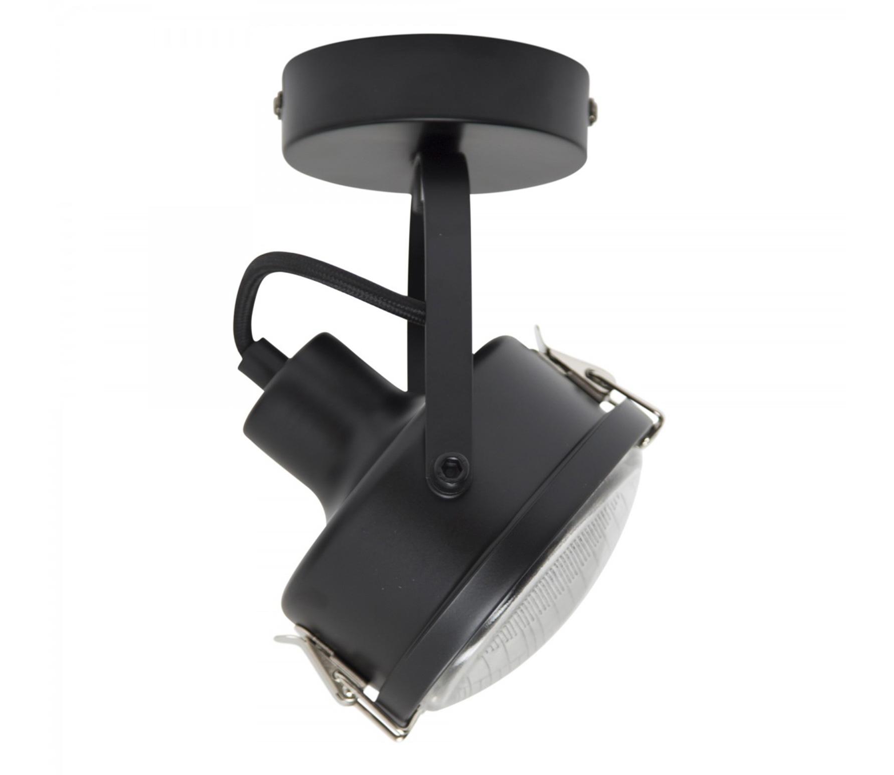 Satellite 1 plafondlamp wandlamp metaal zwart