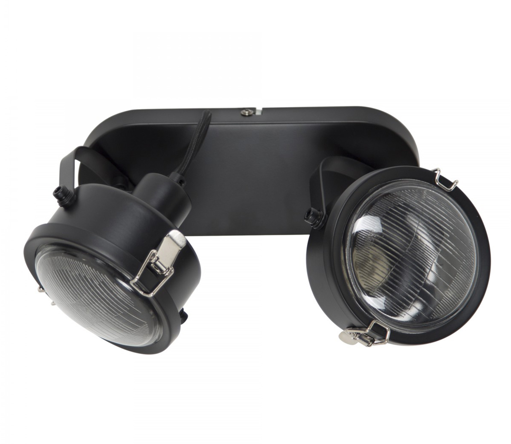 Satellite 2 plafondlamp/wandlamp zwart metaal