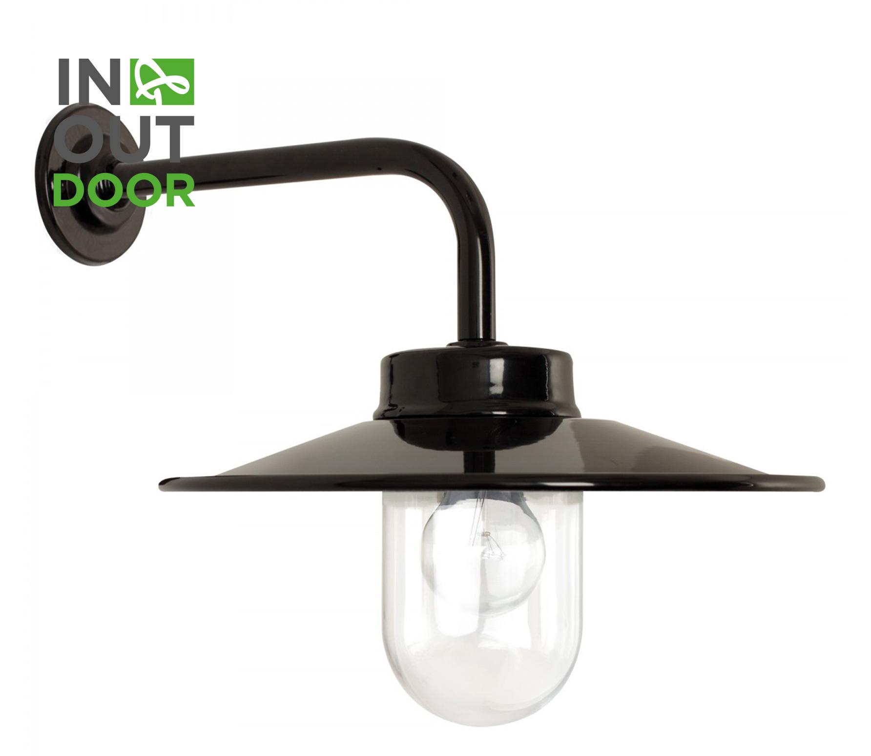 Vita retro wandlamp zwart metaal