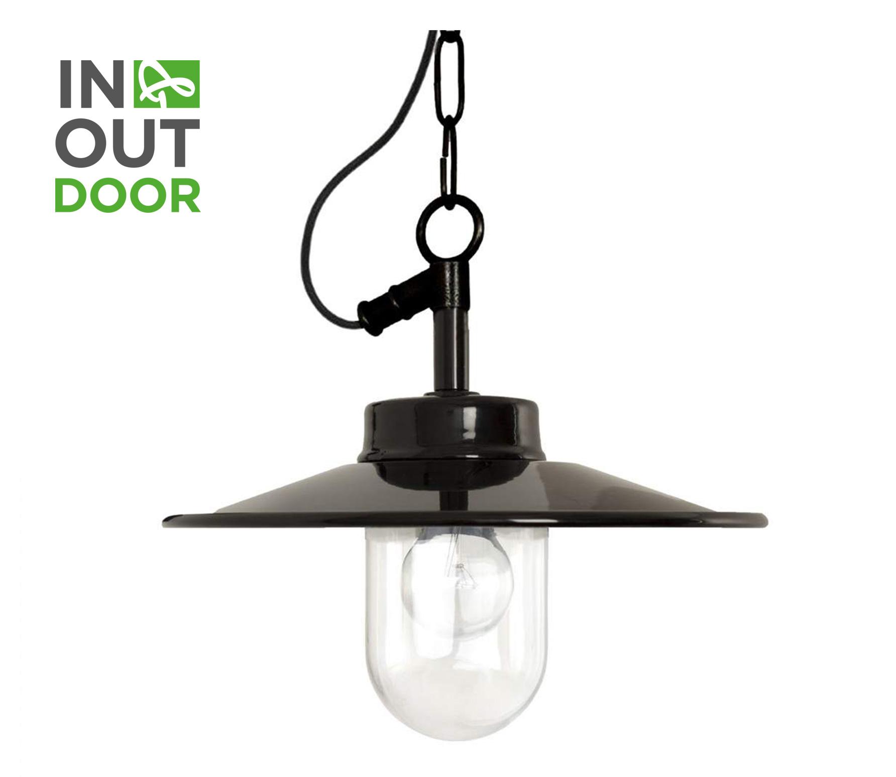 Vita hanglamp aan ketting zwart metaal