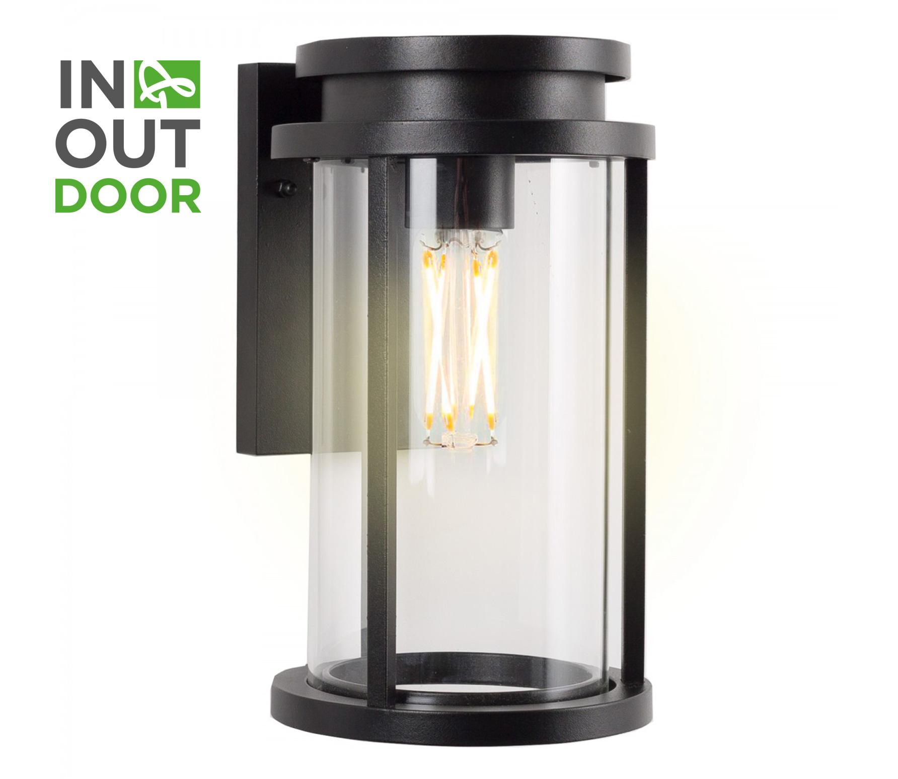 Sydney wandlamp L zwart aluminium
