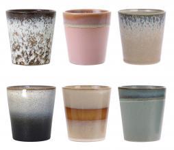 Afbeelding van product: HKLiving Set van 6 mokken 70's keramiek