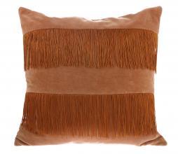 Afbeelding van product: HKLiving Franje kussen 50x50 cm velvet perzik/bruin