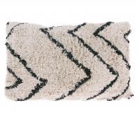HKLiving Kussen zigzag 40x60 cm katoen zwart/wit