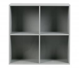 Afbeelding van product: vtwonen Lower case stapelkast 4 open vakken grenen betongrijs zonder onderstel