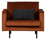 BePureHome Rodeo 1,5 fauteuil velvet roest