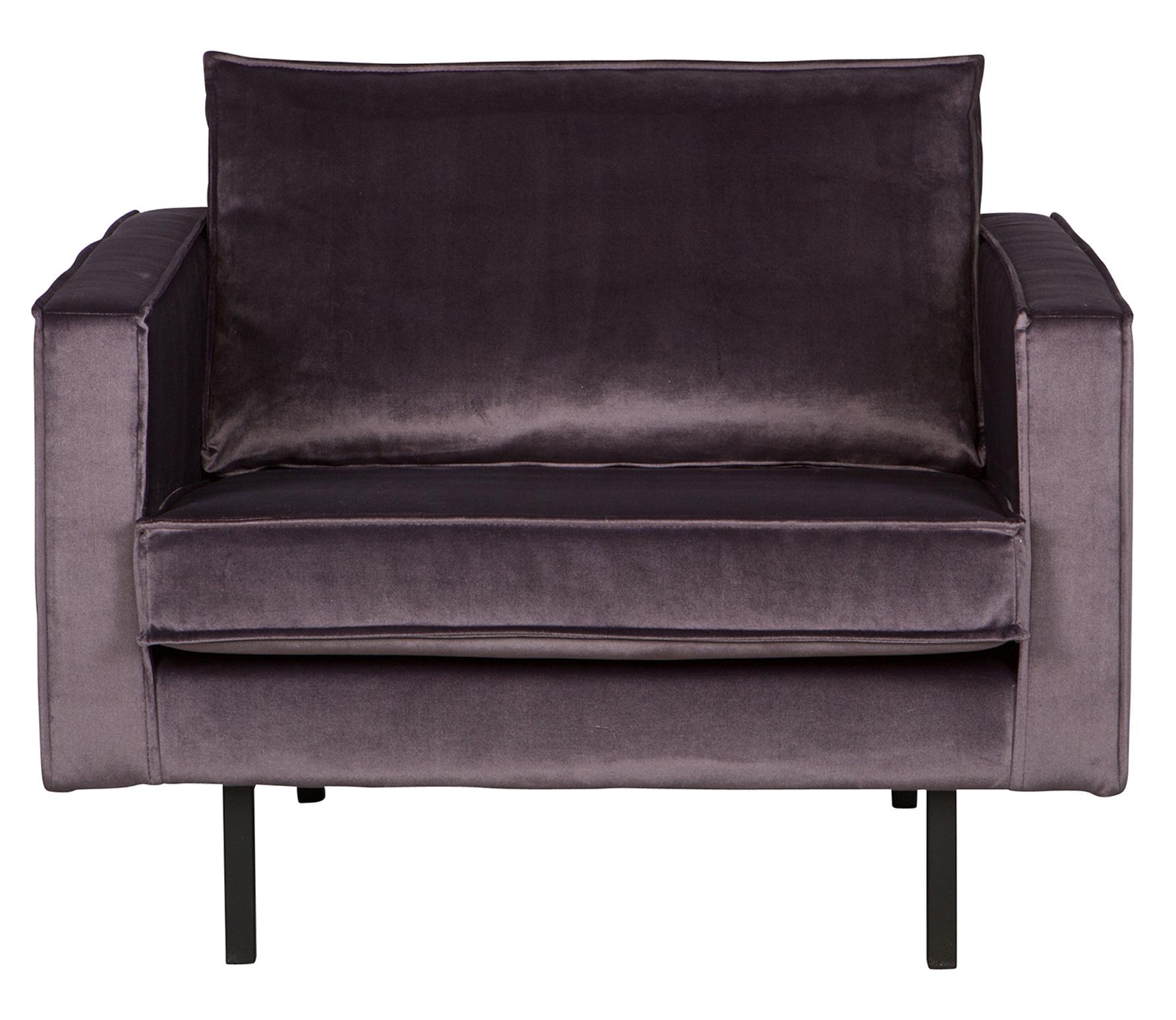 BePureHome Rodeo loveseat 1,5-zits fauteuil velvet donkergrijs