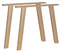 Afbeelding van product: vtwonen Outline set van 2 U-tafelpoten eiken naturel