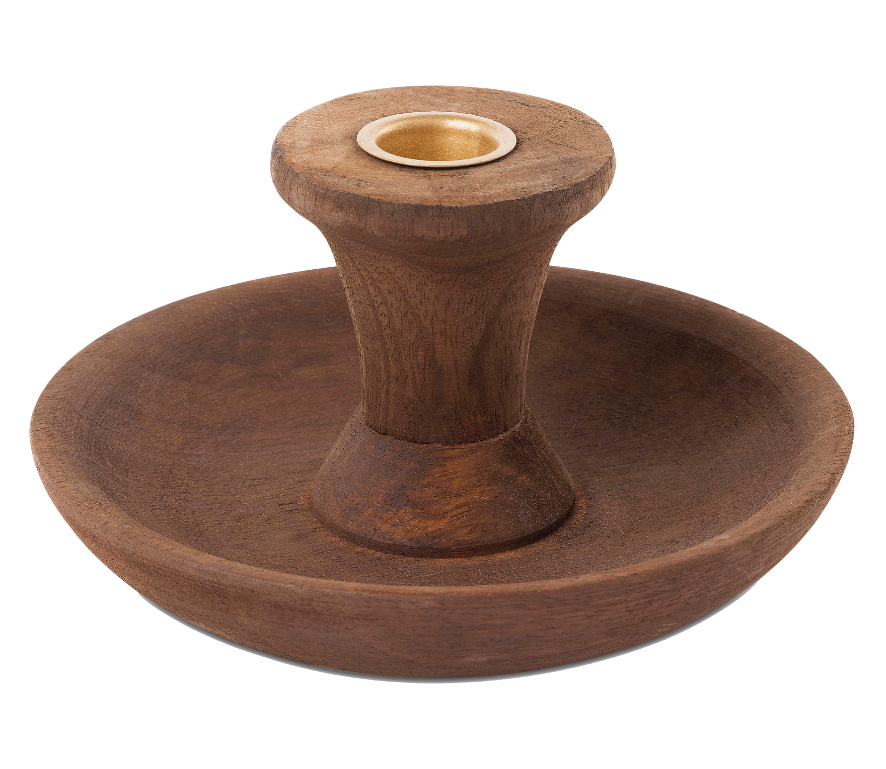 vtwonen kandelaar rond ø23 cm hout bruin