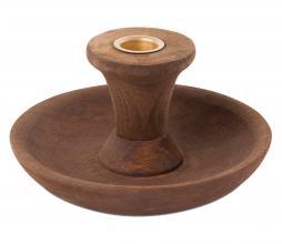Afbeelding van product: vtwonen kandelaar rond ø23 cm hout bruin