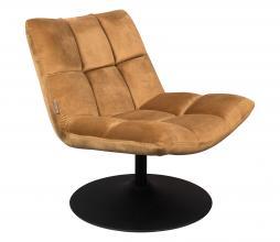 Afbeelding van product: Dutchbone Bar loungefauteuil velvet goudbruin