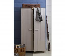 Afbeelding van product: WOOOD Dennis hang-legkast 202x111x55 cm geborsteld grenen betongrijs