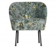 BePureHome Vogue fauteuil poppy velvet grijs