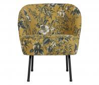 BePureHome Vogue fauteuil poppy velvet mosterd