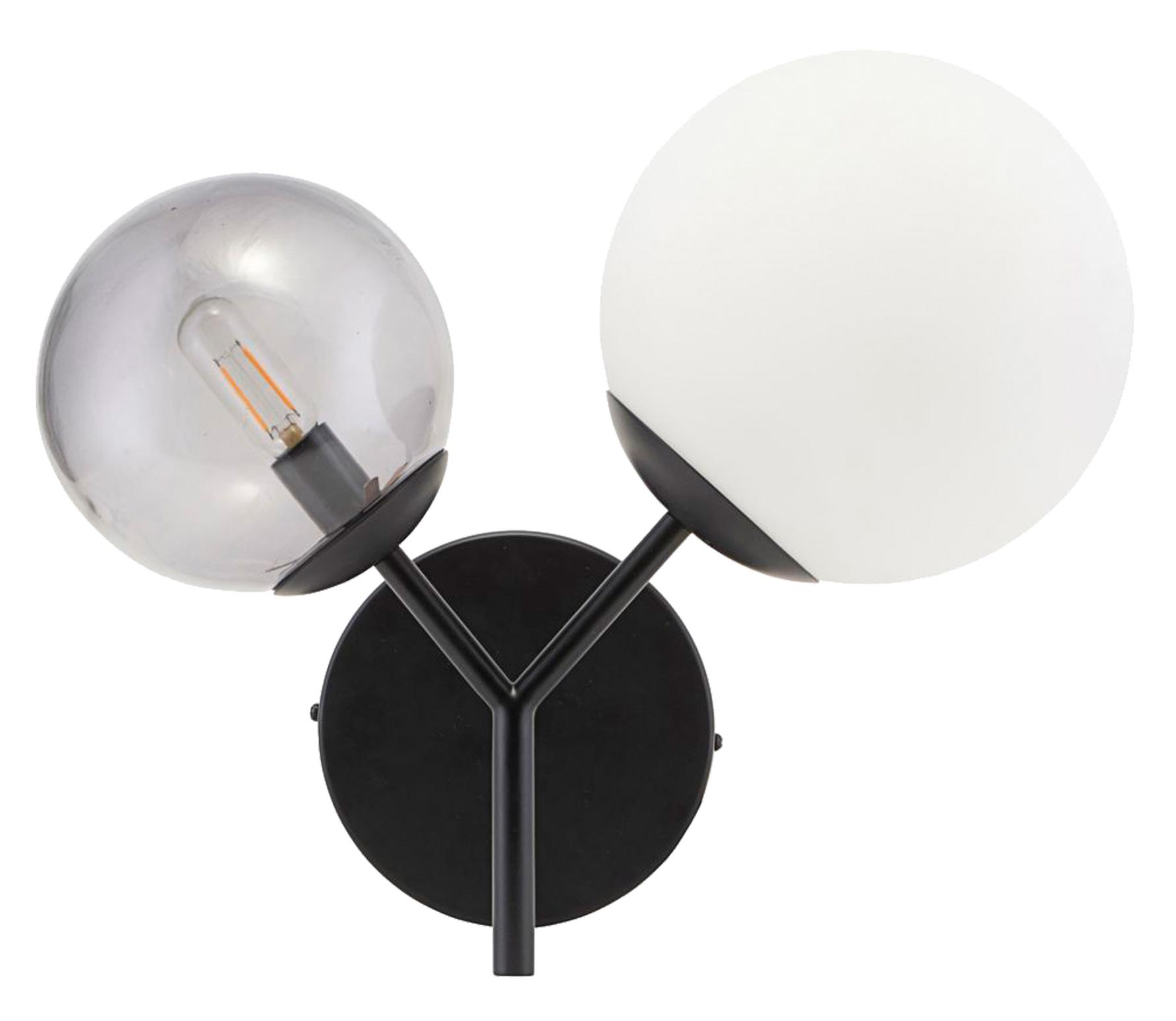 Housedoctor Twice wandlamp metaal zwart