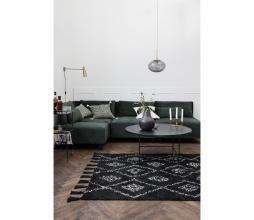 Afbeelding van product: House Doctor Marlie vloerkleed 140x200 cm zwart met print