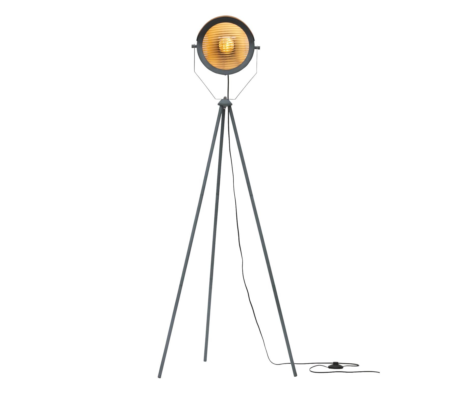 WOOOD Exclusive Lester vloerlamp betongrijs metaal