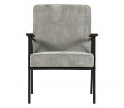 Afbeelding van product: WOOOD Sally fauteuil ribcord stof vergrijsd groen