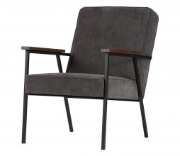 Afbeelding van product: WOOOD Sally fauteuil ribcord stof antraciet