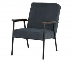Afbeelding van product: WOOOD Sally fauteuil ribcord stof staalblauw