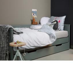 Afbeelding van product: WOOOD Nikki bedbank 90x200 cm grenen (excl. lade) jadegroen