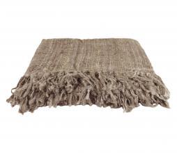 Afbeelding van product: Throw plaid 130x170 cm handgeweven katoen taupe