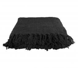 Afbeelding van product: Throw plaid 130x170 cm handgeweven katoen zwart