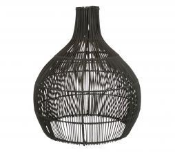 Afbeelding van product: Lampenkap Circle S Ø40 cm rotan mat zwart