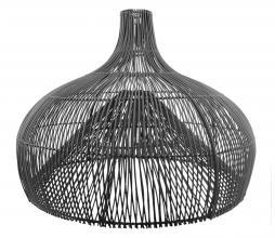 Afbeelding van product: Lampenkap Maggie rotan zwart, div afmetingen M: Ø70 cm