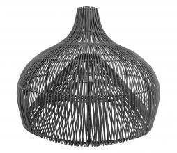 Afbeelding van product: Lampenkap Maggie rotan zwart, div afmetingen S: Ø55 cm