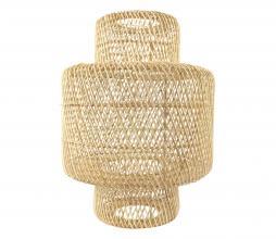 Afbeelding van product: Selected by Janine lampenkap dubbele cilinder L rotan naturel