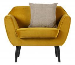 Afbeelding van product: WOOOD Rocco fauteuil velvet oker