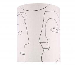 Afbeelding van product: HKLiving Face lampenkap L geprint naturel linnen
