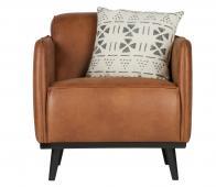 BePureHome Statement fauteuil met arm recycle leer cognac