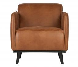 Afbeelding van product: BePureHome Statement fauteuil met arm recycle leer cognac