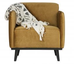Afbeelding van product: BePureHome Statement fauteuil met arm velvet honing geel