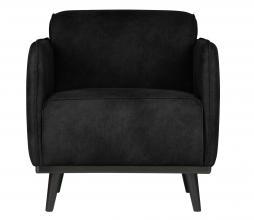 Afbeelding van product: BePureHome Statement fauteuil met arm suedine zwart