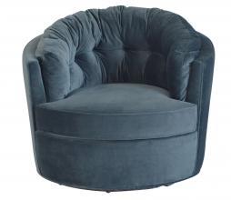 Afbeelding van product: BePureHome Carousel draaifauteuil velvet staalblauw