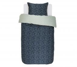 Afbeelding van product: Selected by Bory dekbedovertrek 140x220 cm katoen satijn donkerblauw