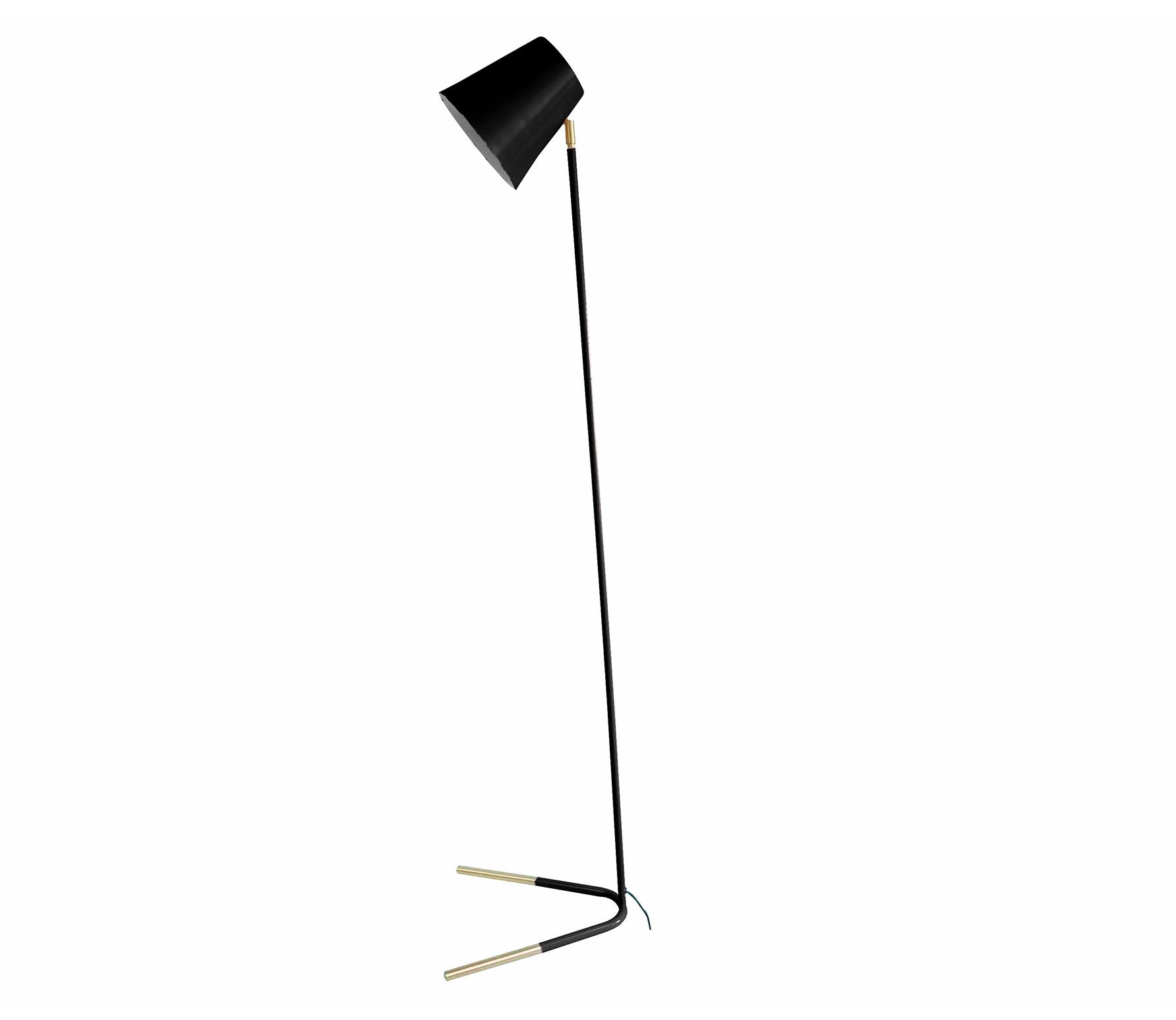 Noble vloerlamp metaal zwart/goud