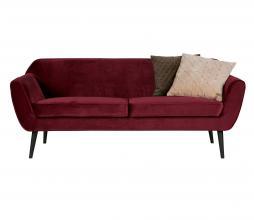 Afbeelding van product: WOOOD Rocco 2,5 zits sofa velvet rood