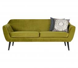 Afbeelding van product: WOOOD Rocco 2,5 zits sofa velvet olijfgroen