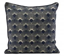 Afbeelding van product: House Doctor Ananda kussenhoes 50x50 cm blauw/goud