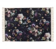 Essenza Fleur vloerkleed 120x180 cm fleece velvet nachtblauw