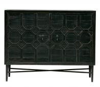 BePureHome Bequest 2-deurs kast 86x109x50 cm grenenhout antiek zwart