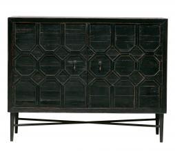 Afbeelding van product: BePureHome Bequest 2-deurs kast 86x109x50 cm grenenhout antiek zwart
