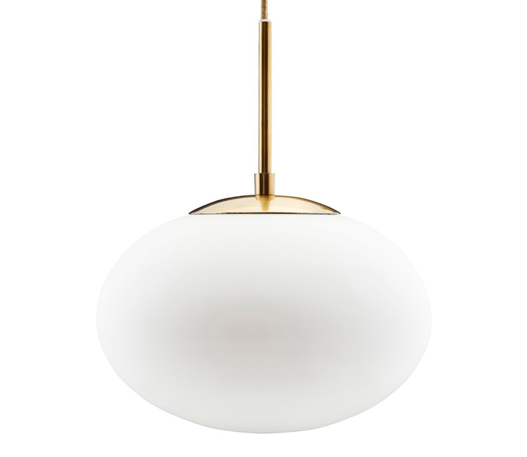 Housedoctor Opal hanglamp wit brass 30 cm wit/brass