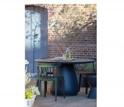 Afbeelding van product: WOOOD Bliss spijlenstoel (binnen-buiten) kunststof army groen